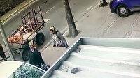 At arabalı hırsızlar kamerada