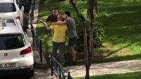 Sokak hayvanlarına mama ve su kabı bırakan yaşlı adama hakaret edip üzerine yürüdü