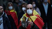 İspanya'da hükümetin koronavirüs politikasına karşı protestolar sürüyor