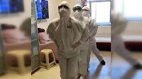 Koronayı yenen sağlık çalışanlarından penguen dansı