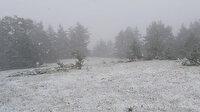 Kastamonu'da mayıs ayında kar sürprizi: Ormanlar beyaza büründü