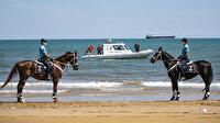 Jandarma Atlı Timi, Ramazan Bayramı'nın birinci gününde sahilleri denetledi