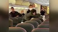 Rusya'daki bir yolcu uçağında yaşanan 'sosyal mesafe' kavgası kamerada