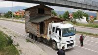 Ölen arkadaşının evini kamyonla 7 kilometre taşıdılar