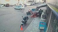 Otomobilin altında kalmaktan saniyelerle böyle kurtuldu