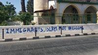 Güney Kıbrıs'taki camiye gerçekleştirilen çirkin saldırıya KKTC'den tepki