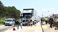 Sakarya'da, D-100 karayolunu kilitleyen 5 araçlık zincirleme trafik kazası
