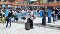 Sabiha Gökçen Havalimanı'nda haftalar sonra en yoğun gün yaşanıyor: Uzun kuruklar oluştu