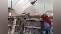 Çeçenistan'da meydana gelen kuvvetli fırtına 11 kişinin yaralanmasına neden oldu