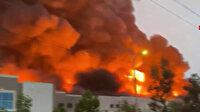 ABD'de online alışveriş devi Amazon'a ait depoda yangın
