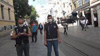 Taksim'de polisin 'drone' ile uyardığı vatandaşlar şaşkına döndü