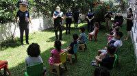 Adana polisinden miniklere korona eğitimi