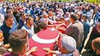 Şehitlerimize veda: PKK'lı hainlerin saldırısı sonrasında şehit olan işçilerimiz son yolculuğuna uğurlandı
