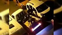 Arnavutköy'de toptancı aracını soyan hırsızlar böyle görüntülendi