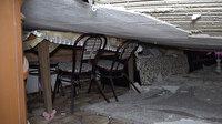 Düğünden evlerine dönen çift çöken tavanla hayatlarının şokunu yaşadı