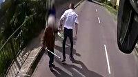 Macaristan'da otobüs şoförü, saldırıya uğrayan yaşlı kadını kurtardı