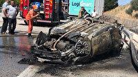 İzmir'de alev alan otomobilde 2 kişi yanarak can verdi: Kendini dışarı atan biri çocuk 2 kişi kurtuldu