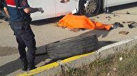 Patlak lastiği değiştirirken otobüsün altında kalan şoför hayatını kaybetti