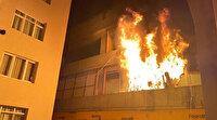Katlı otopark alev alev yandı