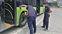 Kocaeli'de halk otobüsüne giren 2 metrelik yılan itfaiye ekiplerini seferber etti