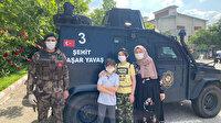 Özel harekattan güzel hareket: Sınava şehit babasının isminin yazılı olduğu zırhlı araçla gitti