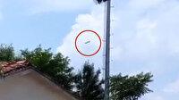 Ankara'da eğitim uçağının düştüğü anlar kamerada