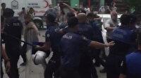 Kaçak yapıyı yıkmaya gelen ekibe taş ve sopalı saldırı