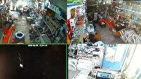 Van'da meydana gelen 5,4 büyüklüğündeki deprem anı kamerada
