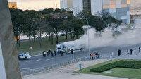 Brezilya'da Başkanlık sarayı önündeki bir otobüs ateşe verildi
