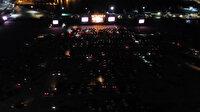 Türkiye'de ilk: Yenikapı'da arabalı konser verildi