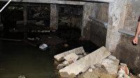 Su gideri boruları için kolonları delinen 50 yıllık bina mühürlendi