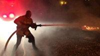 Mardin'de alevler geceyi aydınlattı: Erken müdahale faciayı önledi