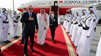 Salgın sonrası ilk ziyaret: Cumhurbaşkanı Erdoğan Katar'da