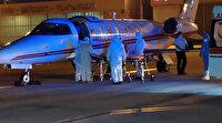 Riyad'daki koronavirüslü karı koca ambulans uçakla yurda getirildi
