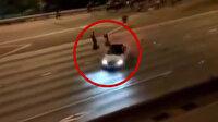 ABD'de bir kişi protestocuların arasına otomobille daldı