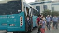 28 kişilik otobüste 40 yolcu taşıyan şoför uygulamadan kaçtı