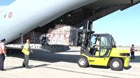 Türkiye'nin gönderdiği yardım malzemeleri kardeş ülke Azerbaycan'a ulaştı