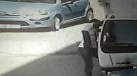 Kamyonetten cep telefonu çalan hırsız kamerada