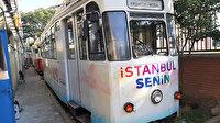 Nostaljik tramvay artık nostaljik değil: İmamoğlu adını yazdırdı