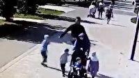 Irkçı adam, Müslüman anneyi çocuklarının gözü önünde öldüresiye dövdü: İnsan utandıran kalleş saldırısı kamerada