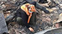Artvin'deki 35 evin yandığı köyde, enkaz altındaki eşyalarını arıyorlar: Altınlarının birçoğunu buldu