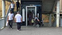 Engelli vatandaşa büyük ayıp: Metrobüs durağında yürüyenler asansöre bindi o bekledi