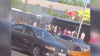 İstanbul son dakika haberleri: Yenibosna'da metrobüs yangını paniği