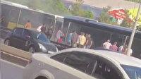İstanbul Yenibosna'da metrobüste yangın paniği