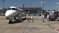 Kazakistan ve Azerbeycan'da koronavirüse yakalan Türkler ambulans uçakla İstanbul'a getirildi