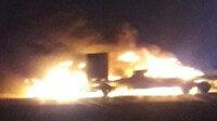 ABD ordusuna lojistik malzeme taşıyan konvoyu İran destekli güçler ateşe verdi