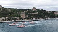 15 Temmuz şehitleri ve gaziler için İstanbul Boğazı'nda saygı geçişi düzenlendi