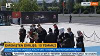 Cumhurbaşkanı Erdoğan 15 Temmuz Şehitler Anıtı'na çelenk bıraktı