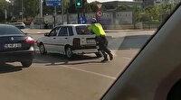 Trafik polisinden takdir toplayan hareket