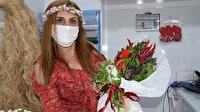 Acı tutkunu Diyarbakırlılardan sıradan bir uygulama: Çiçek yerine biber demeti